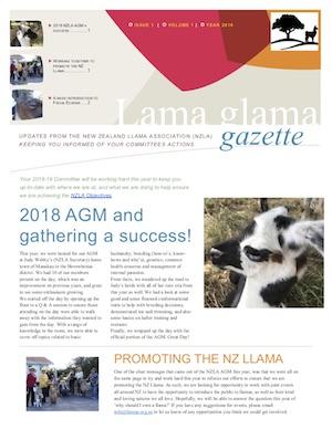 Lama Glama Gazette: Issue 1 Vol 1 2018