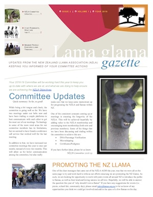 Lama Glama Gazette: Issue 2 Vol 1 2018