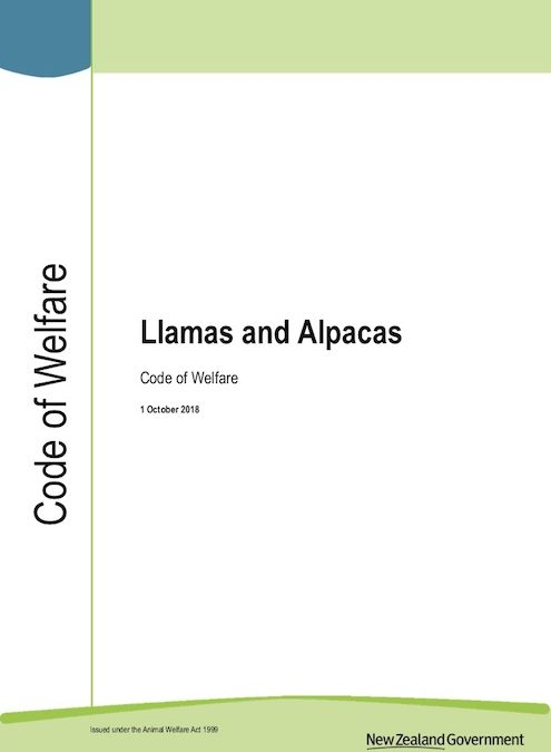 Code of Welfare: Llamas and Alpacas 2018