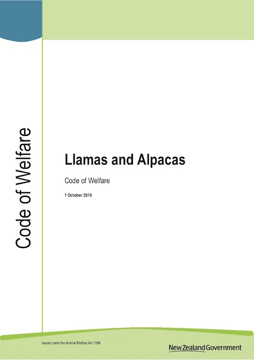Animal Welfare (Llamas and Alpacas) Code of Welfare 2013