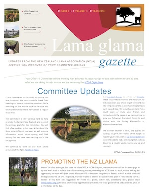 Lama Glama Gazette: Issue 3 Vol 1 2018