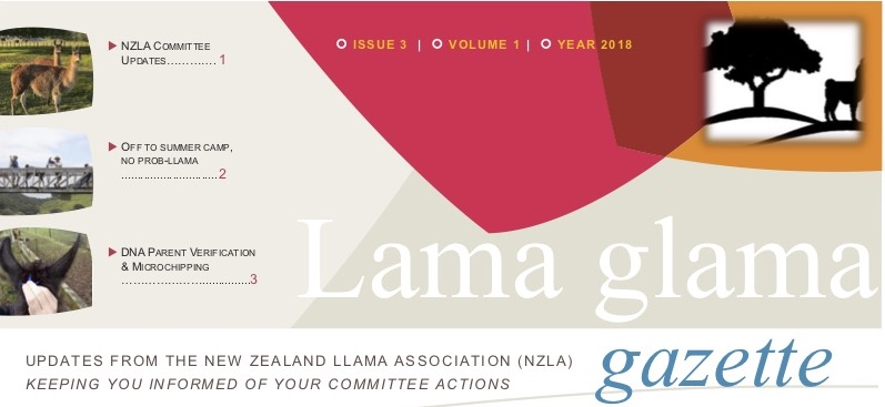 Lama Glama Gazette Issue 3 Vol 1 2018