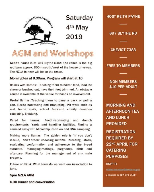 NZLA AGM and Workshops