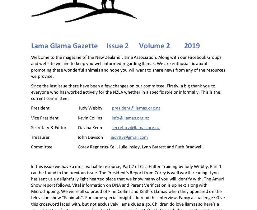 Lama Glama Gazette: Issue 2 Vol 2 2019